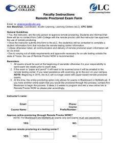 Collin College Faculty Instructions – Remote Proctored Exams