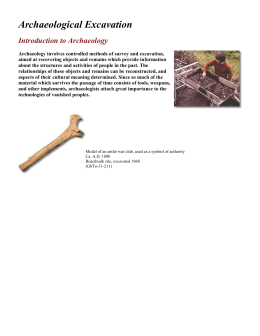 introduction: archaeological excavations