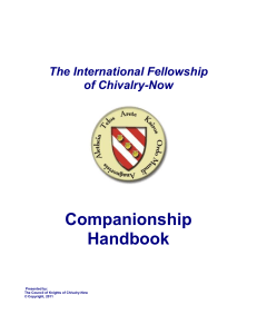 CN Companionship - International Fellowship of Chivalry-Now.
