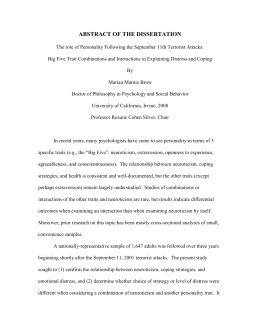 ABSTRACT OF THE DISSERTATION