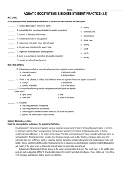 chapter 7 terms and review answers rh studylib net chapter 3 section 3 aquatic ecosystems study guide answers chapter 3 section 3 aquatic ecosystems study guide answers