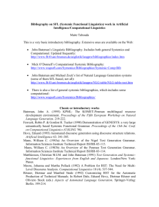 Bibliography on SFL (Systemic Functional Linguistics) work in