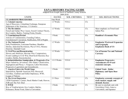 stafford high school us/va history pacing guide