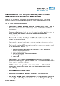 Referral Criteria - Pennine Care NHS Foundation Trust