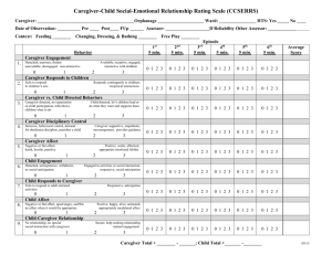 Caregiver-Child Social-Emotional Relationship Rating Scale