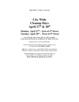 City Wide Clean-up - City of Lincoln, Kansas