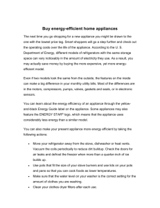 Buy energy-efficient home appliances