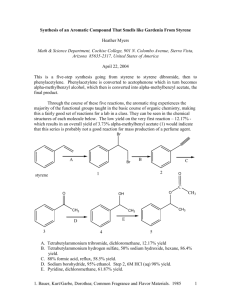 Synthesis of an Aromatic Compound That Smells