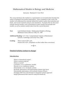 Syllabus - Laboratory for Biological Systems Analysis