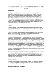 supplementary planning document on recreational open space