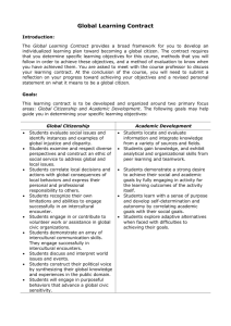 Global Learning Contract Handout
