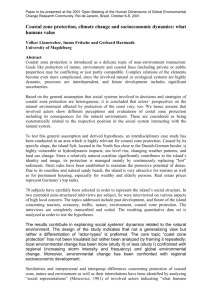 Paper to be presented at the 2001 Open Meeting of the Human