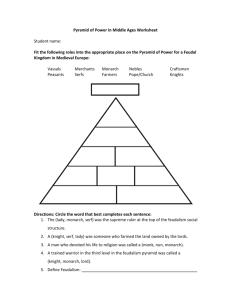 Pyramid of Power in Middle Ages Worksheet
