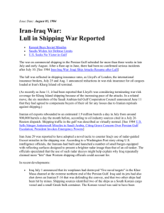 Iran-Iraq War: Lull in Shipping War Reported