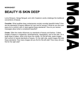 """Beauty is Skin Deep"" Worksheet ()"