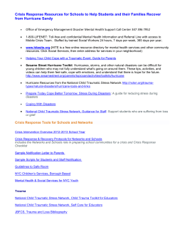 Crisis Response Resources for Schools to Help Students and their