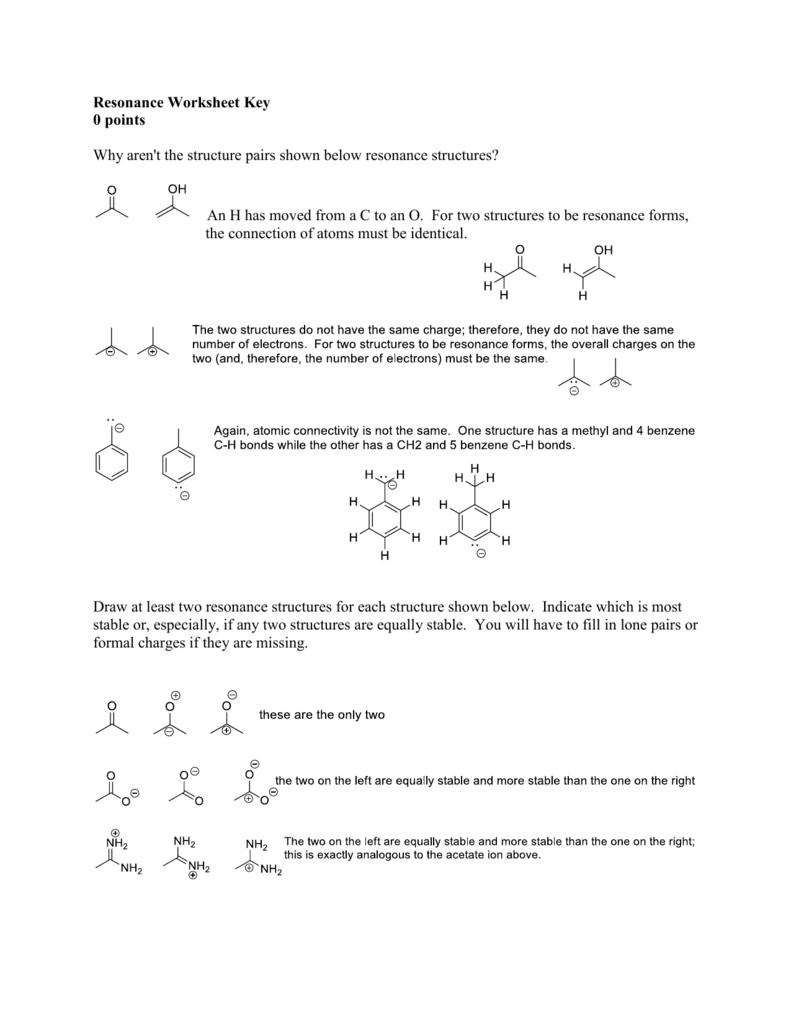 worksheet Formal Charge Worksheet resonance worksheet the best and most comprehensive worksheets key