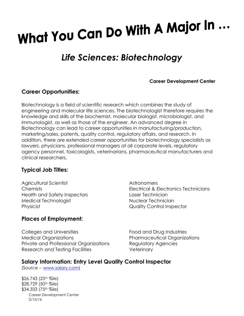 Life Sciences: Biotechnology