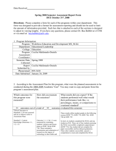 Annual Assessment Report Form for Student Learning Outcomes