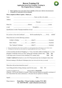 Application Form - Cobblers Children - Bowtech
