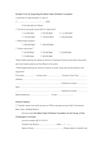 Donation Form for Supporting the Maha Chakri Sirindhorn Foundation