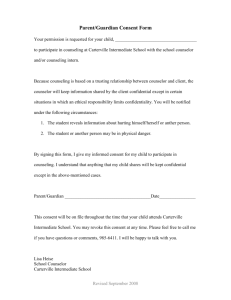 Parent/Guardian Consent Form