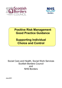 Positive Risk Management - Association for Real Change