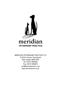 Meridian Veterinary Practice ltd 11 Edith Avenue, Peacehaven East