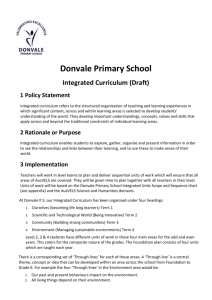 Integrated Curriculum Policy 2013 v1.0