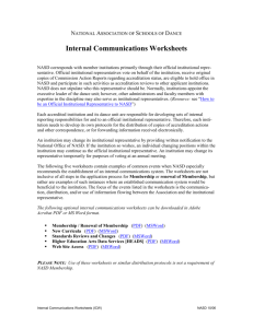 Internal Communications Worksheet