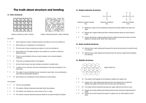 Structure and bonding TF