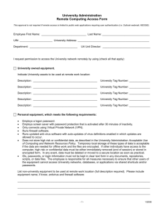 Remote Computing Access Form