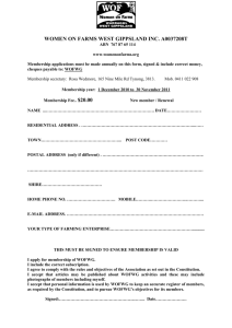 Membership Form - Women on Farms