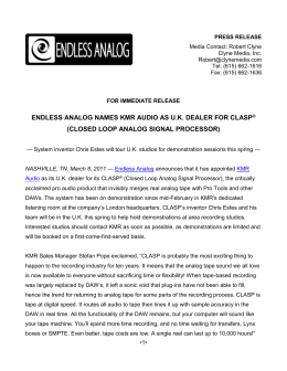 PRESS RELEASE - Clyne Media, Inc.