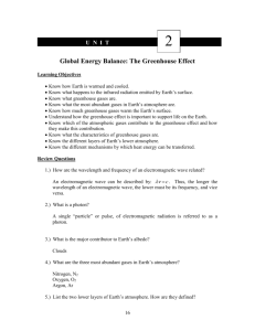 Unit II: Global Energy Balance