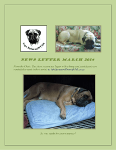 Newsletter March2014 - Cape Bullmastiff Club