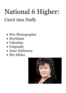 mrs beast by carol anne duffy essay How does carol ann duffy challenge the familiar cultural stereotypes of women in 'mrs beast' 1452 words | 6 pages ann duffy challenge the familiar cultural stereotypes of women in 'mrs beast'.