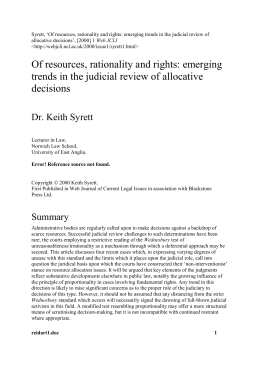 Of resources, rationality and rights: emerging trends in - ESCR-Net