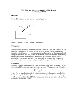 ME100 Lecture Notes – Introduction to Heat Transfer