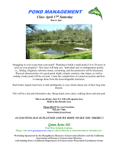 pond management workshop