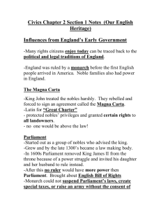 Civics Chapter 2 Section 1 Notes (Our English Heritage)