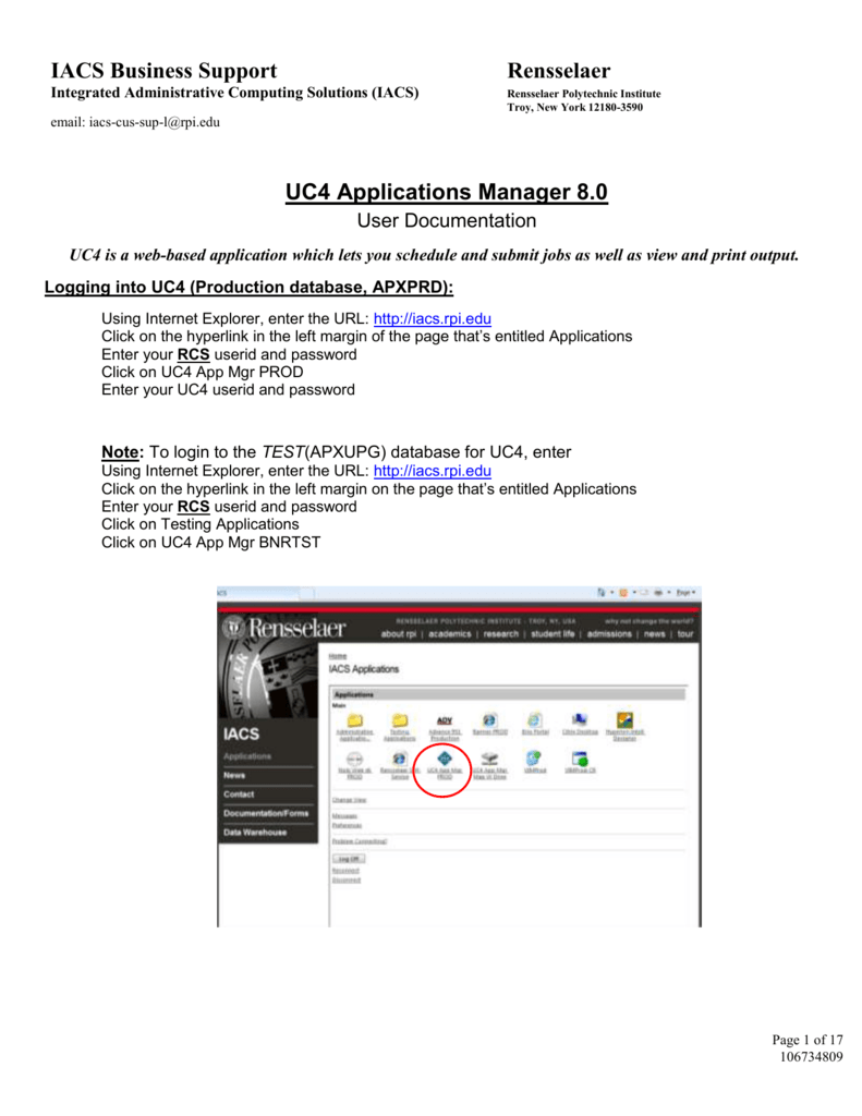 UC4: New User Documentation - Rensselaer Polytechnic Institute