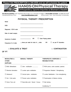 PRESCRIPTION FORM - Hands