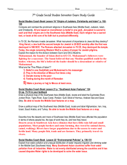 7th grade crct study guide southwest asia name date period 7th grade social studies publicscrutiny Image collections