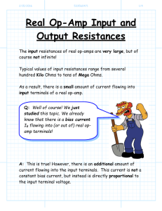 Real Op-Amp Input and Output Resistances