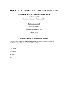 Exam 1 - Pages - University of Wisconsin