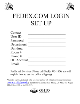 FedEx Express and FedEx Ground Claim Form Instructions and