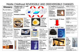 reversible and irreversible changes worksheet pdf