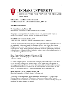 2004-05 Awards - Research Gateway : Indiana University