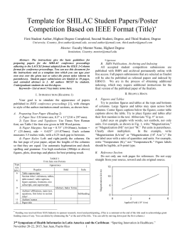 Preparation of papers in two column format for the conference for Ieee paper format template download